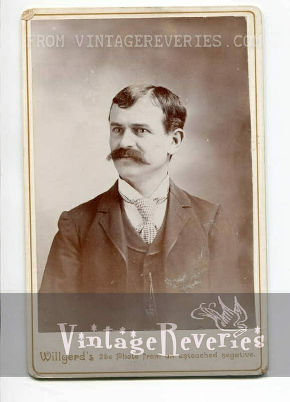 Turn of the century handle bar moustache
