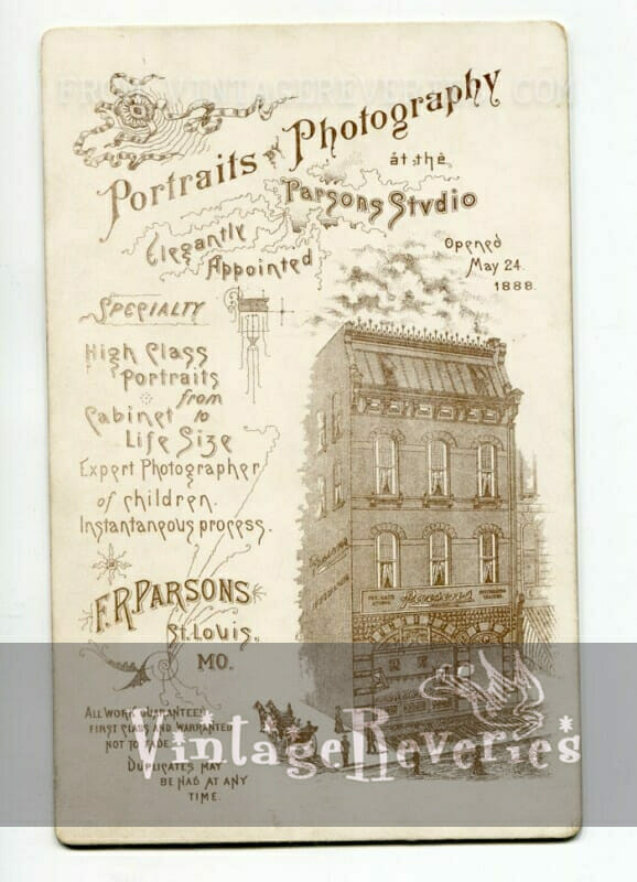 back of a cabinet card