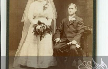 Very formal turn of the century wedding photo, and a random one or 2 from 1914