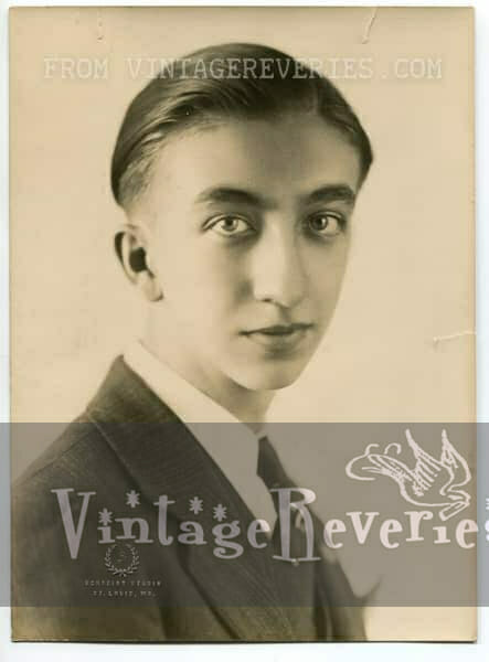 young man staring into the camera