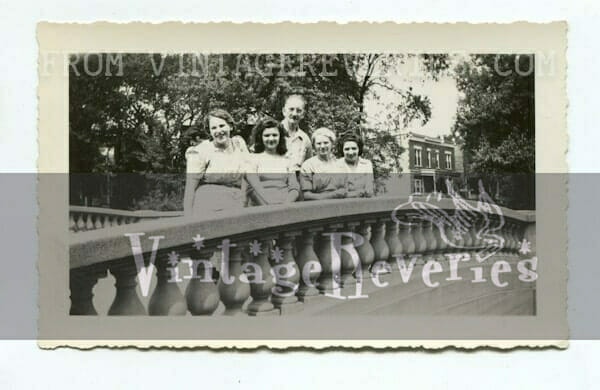 people on a bridge 1942