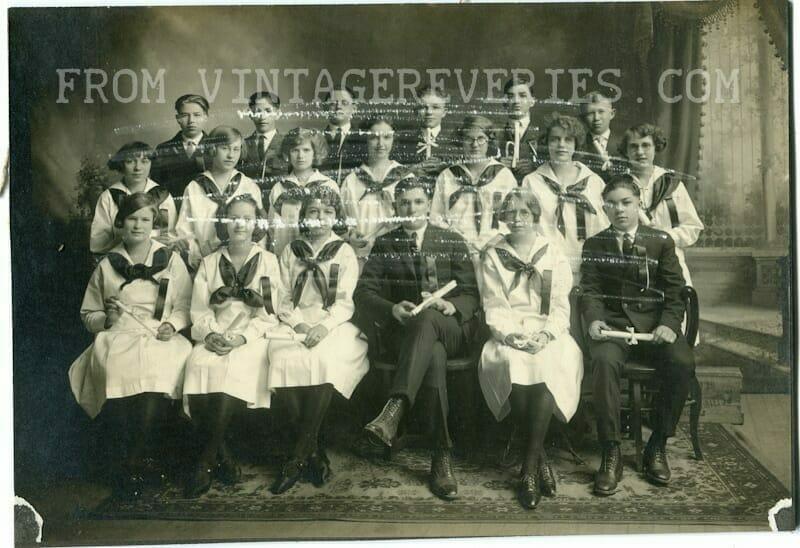 Turn of the century class photo