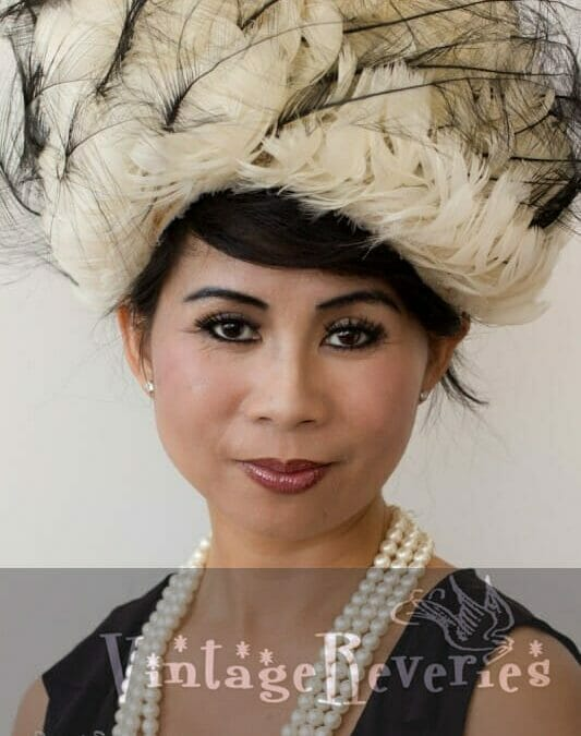1950s-1960s feathered hat
