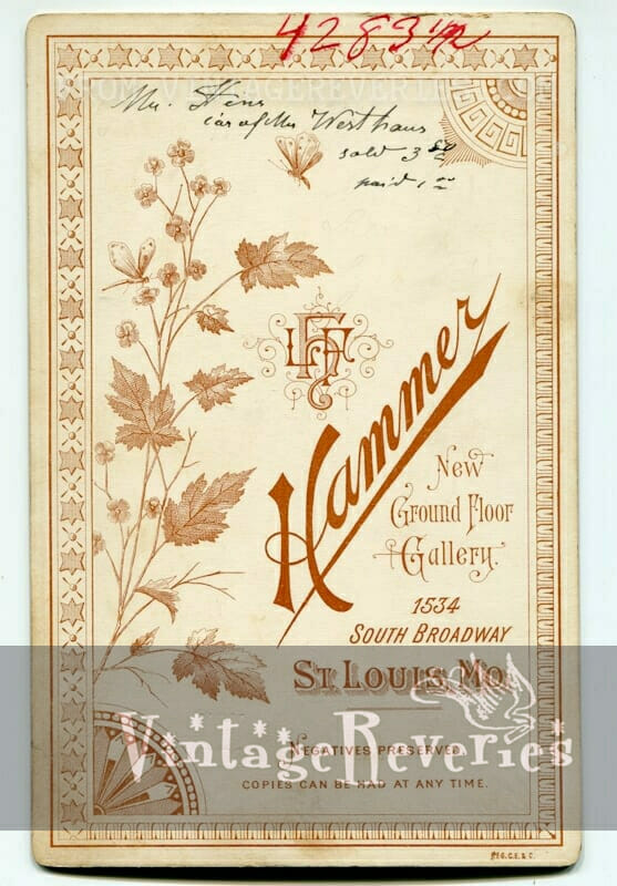 Hammer photography St. Louis MO- historic turn of the century photographer