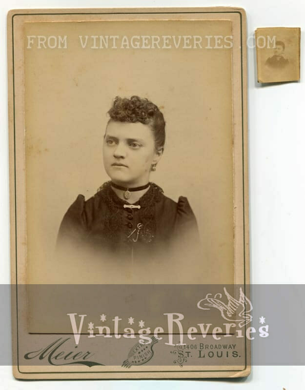 turn of the century photograph of a young girl