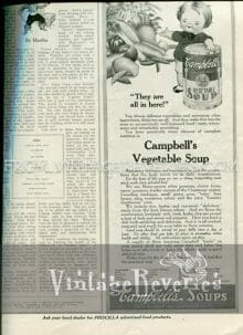Old Campbells Vegetable Soup ad