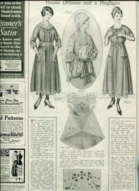 1917 house dress fashions