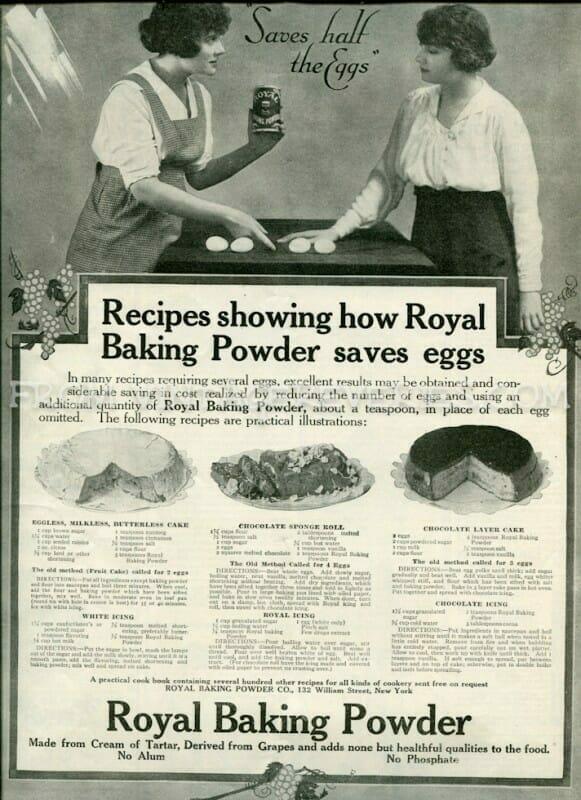 vintage baking powder advertisement