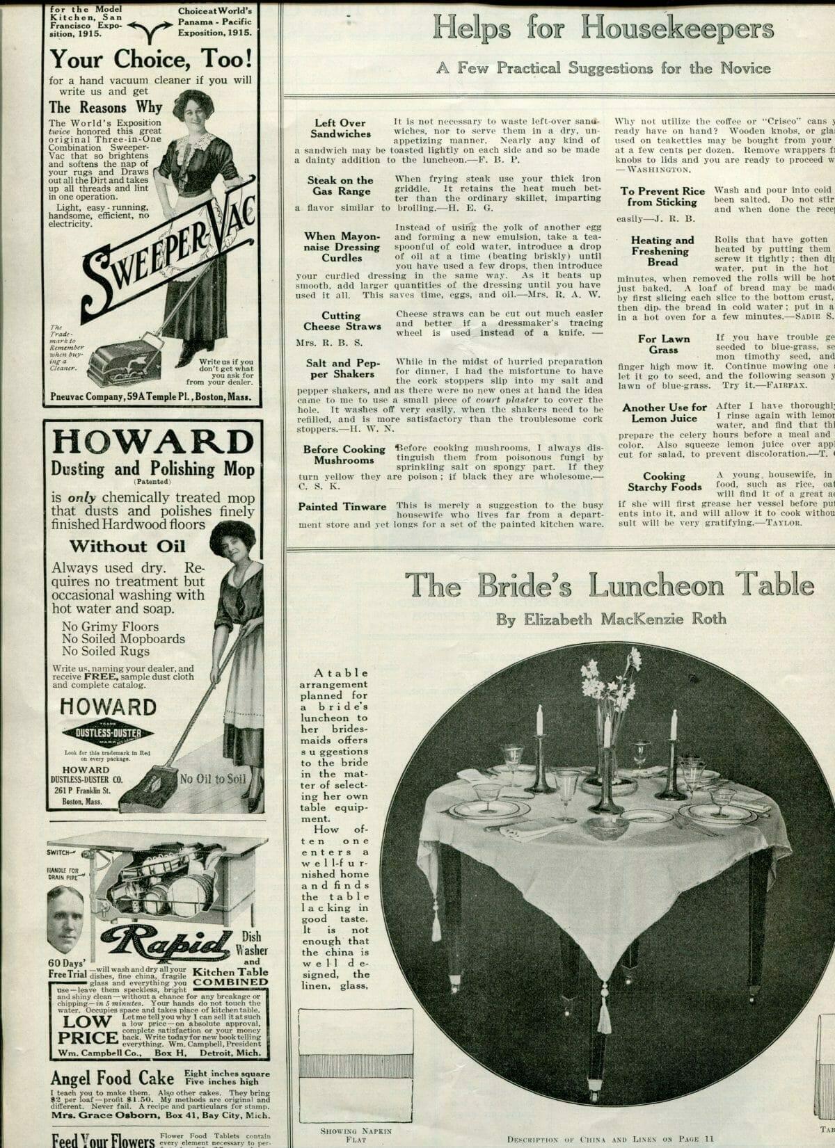 edwardian bridal luncheon table