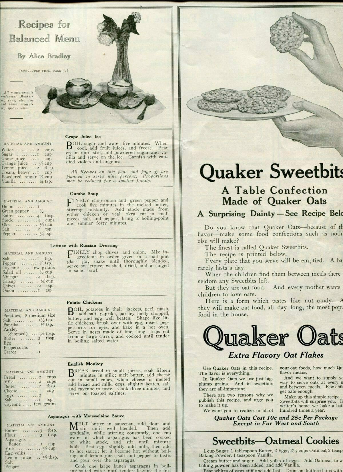 1917 quaker oats advertisement