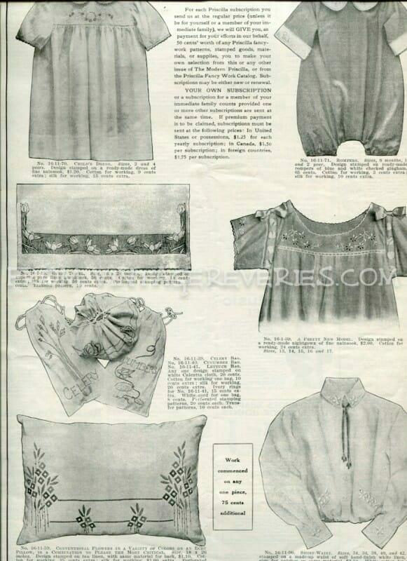 1917 children's clothing