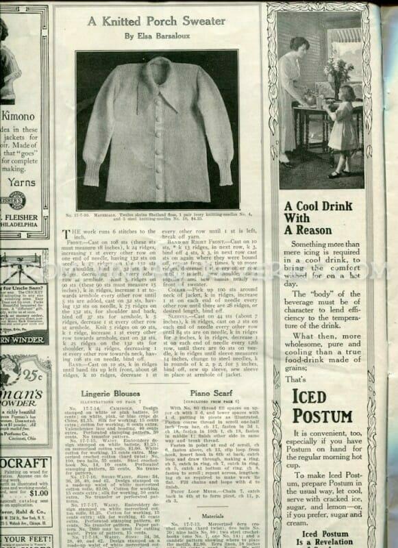 The Modern Priscilla Home Needlework and Everyday HouseKeeping - July 1917 - World War I womens magazine