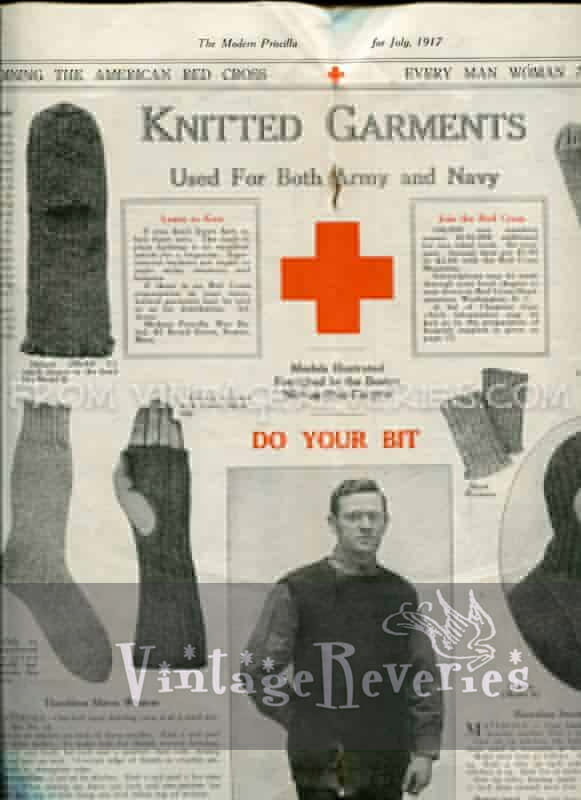 Knitted Garments Used for Both Army and Navy – World War I American Red Cross