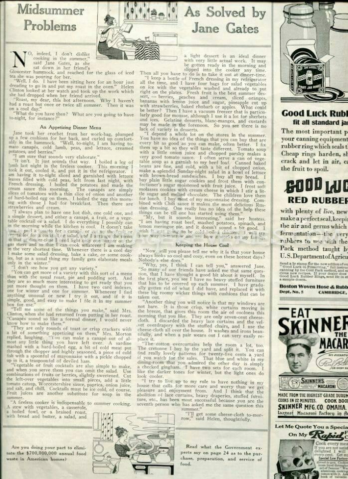 Midsummer problems in 1917