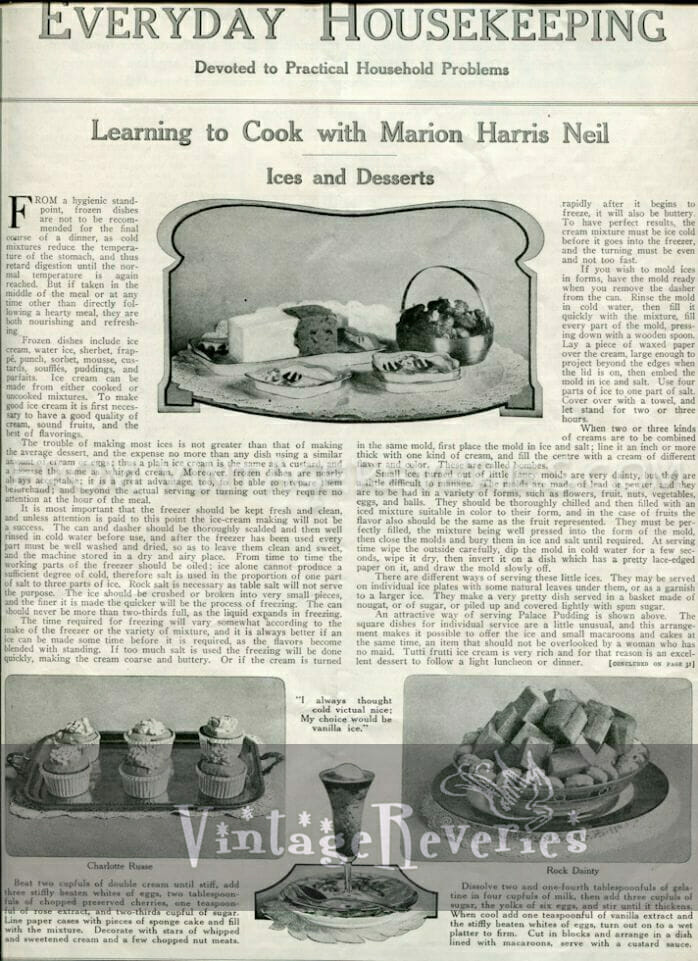 1917 ice cream recipe