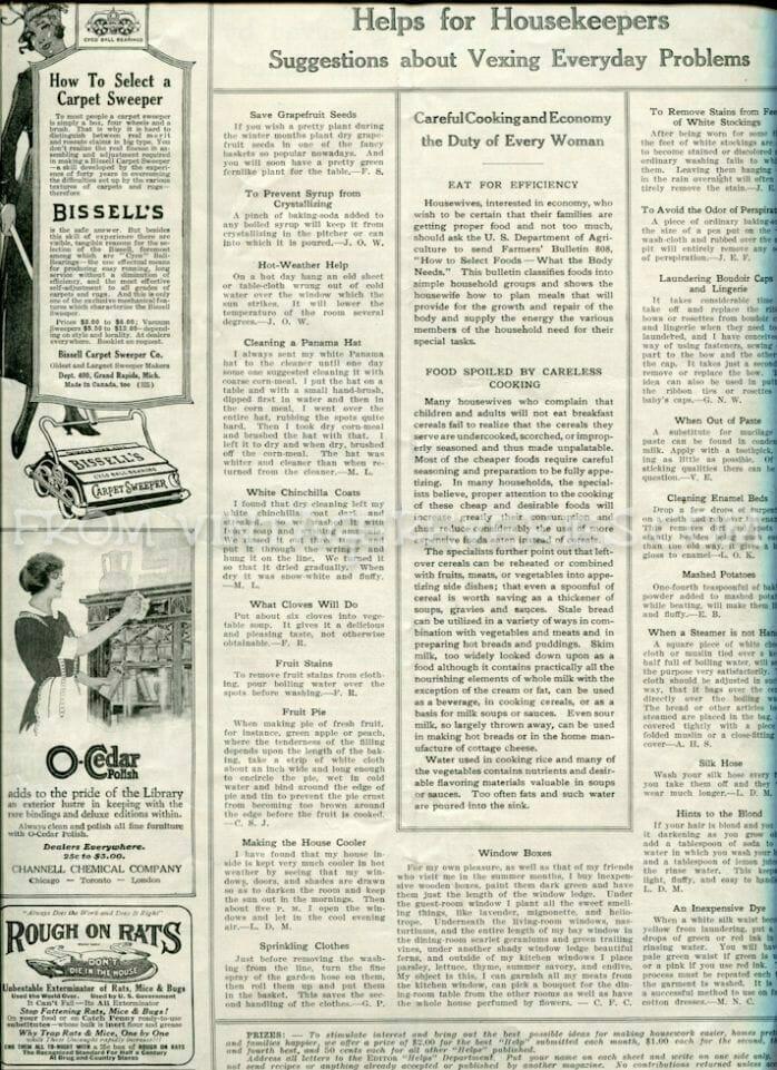 World War I household tips