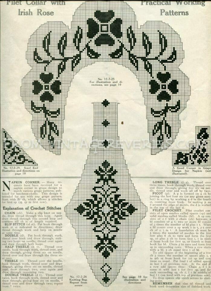 Free filet lace crochet pattern