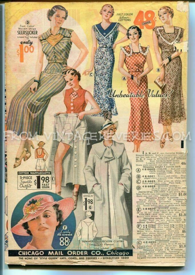 1935 Fashions Catalog