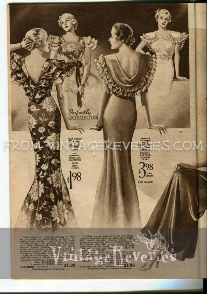 1930s summer fashions