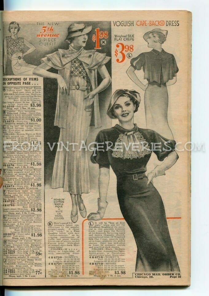 Summer 1935 Fashionable Dresses