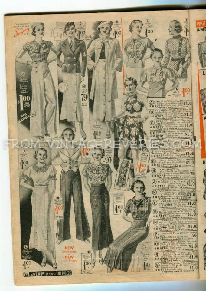 1930s womens pants fashion