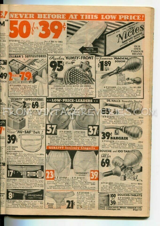 1930s douche and feminine hygiene ads