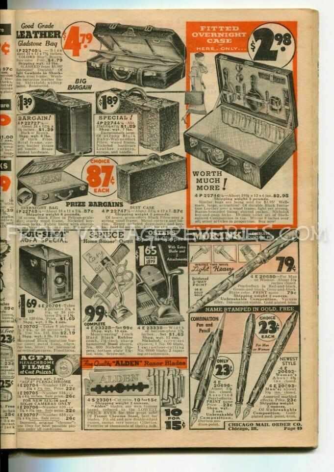 1930s fountain pen ads