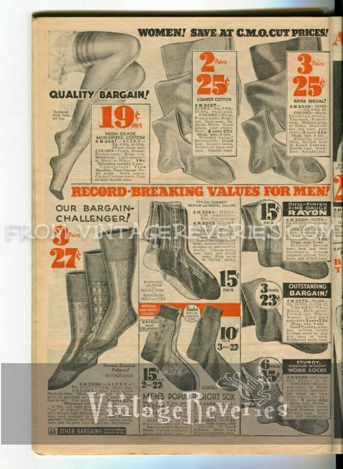 vintage silk stockings advertisements