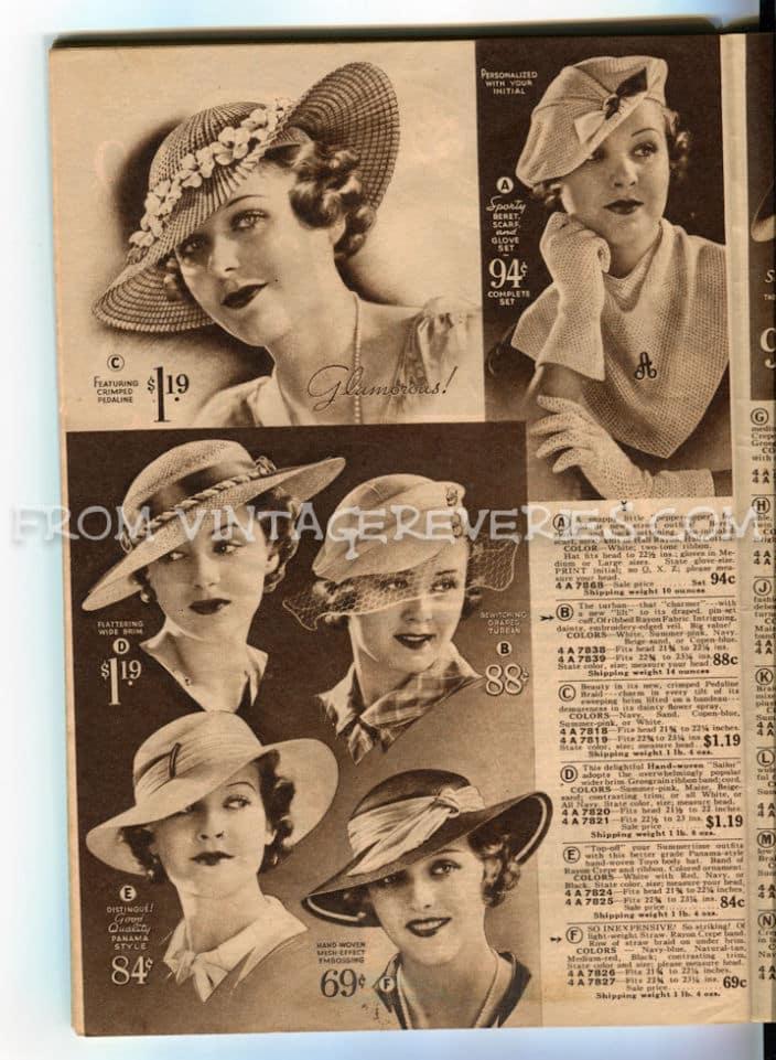 great depression hat fashions