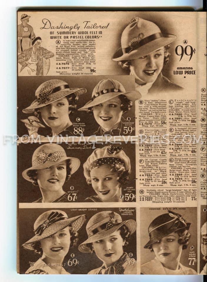 1930s hat advertisements