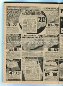 1930s bedsheet advertisement