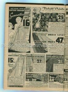 Summer 1935 fabric advertisement