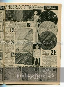 great depression fabric advertisements
