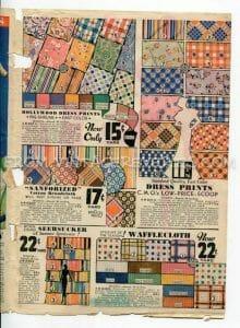 1930s fabric advertisement
