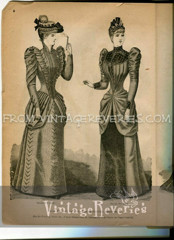1890s bustle fashions