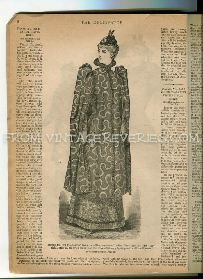 1890s coat fashions