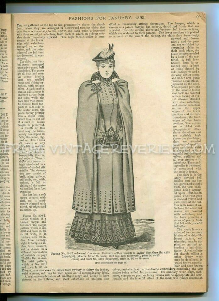 winter 1890s fashions