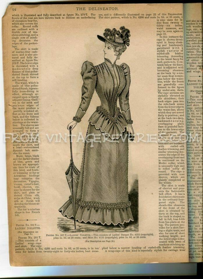 1890s fashion plate illustration