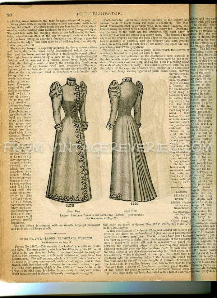 1890s fashion illustrations