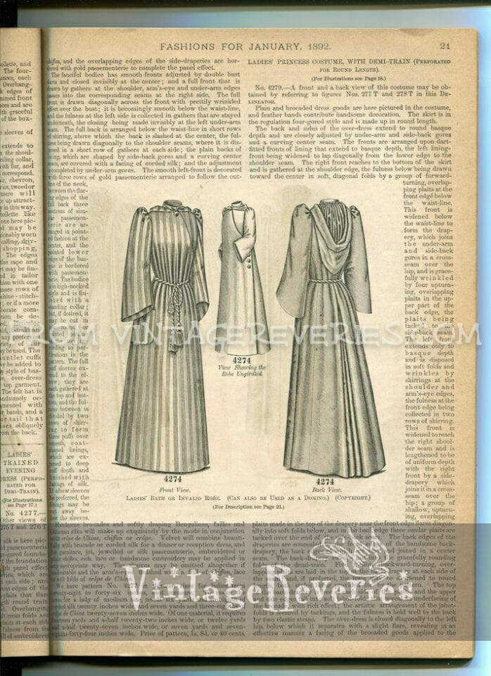 1892 delineator magazine page 21