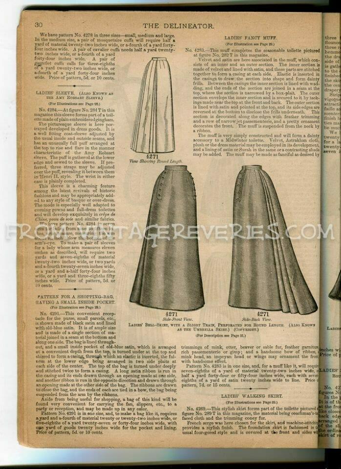 1890s skirt fashion illustration