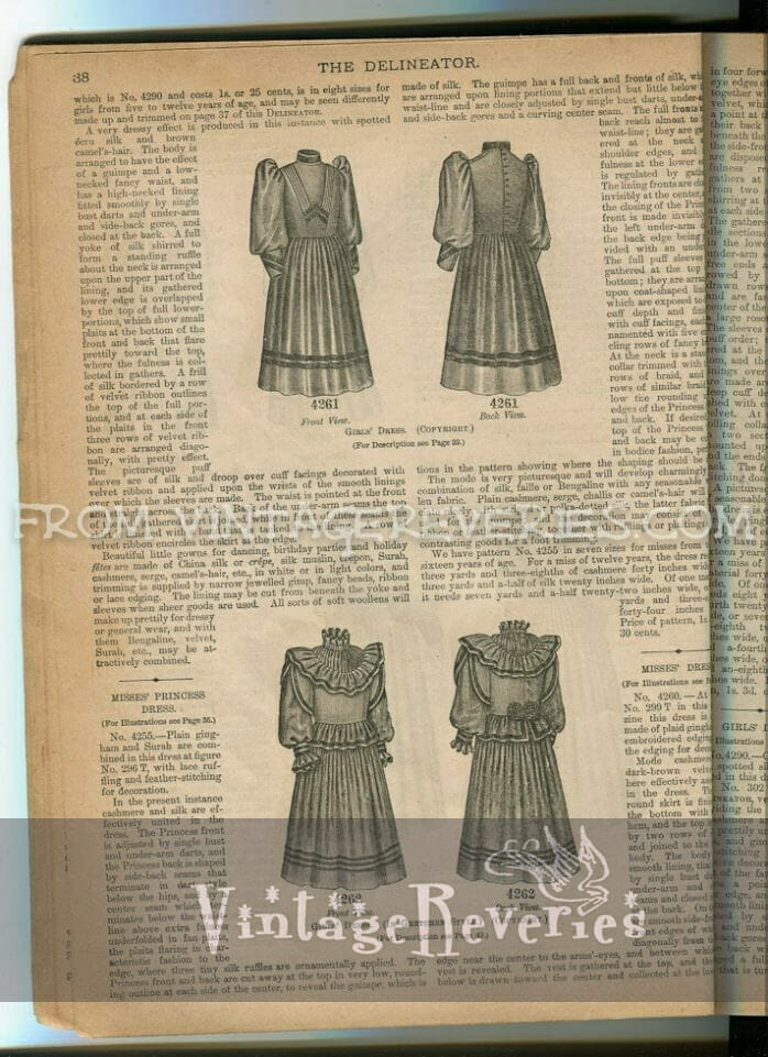 what girls wore in the early 1890s