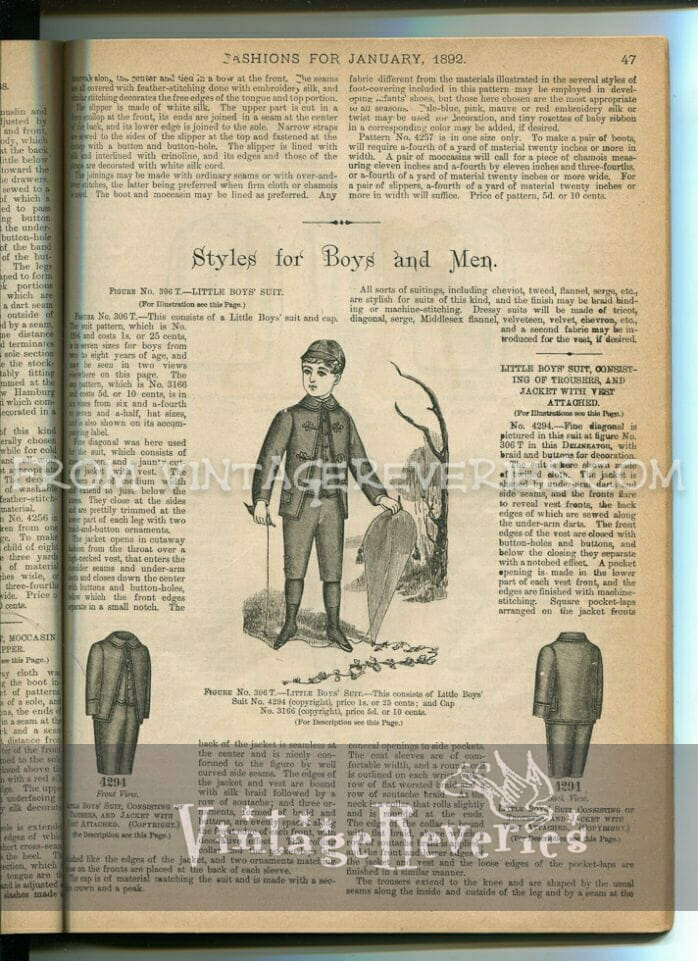 what little boys wore in the 1890s