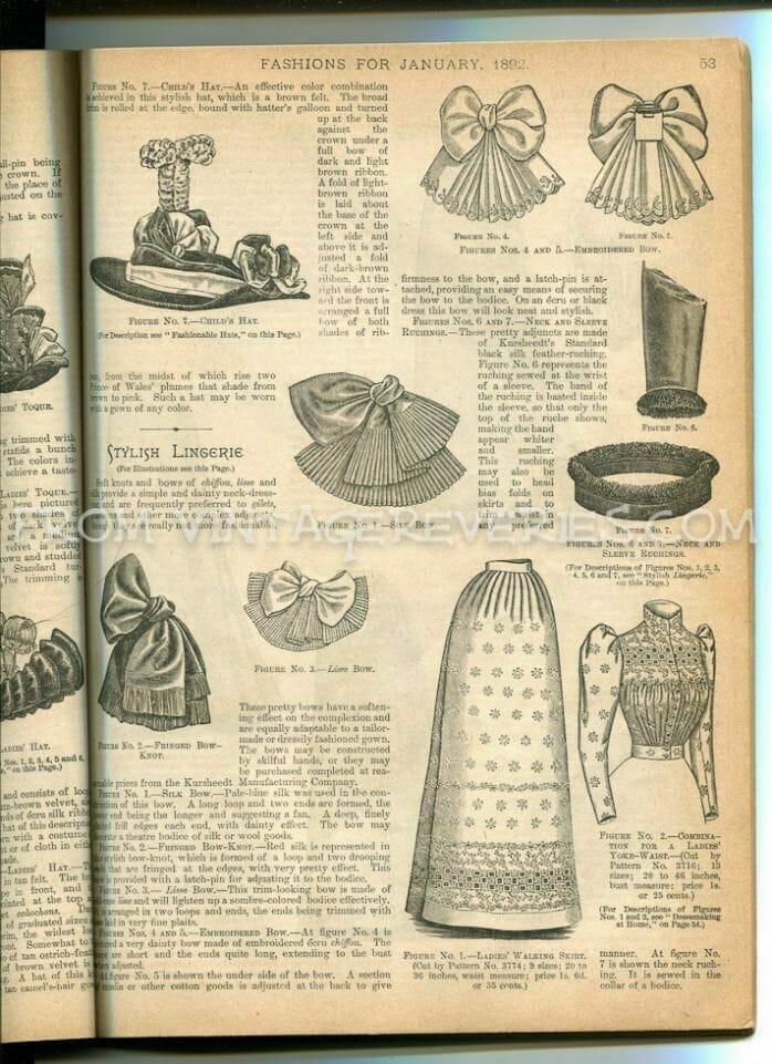 1890s bow designs