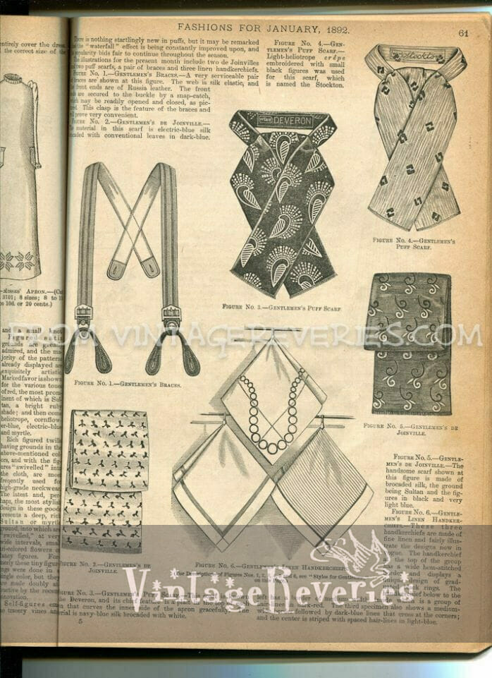 1890s mens scarves and suspenders