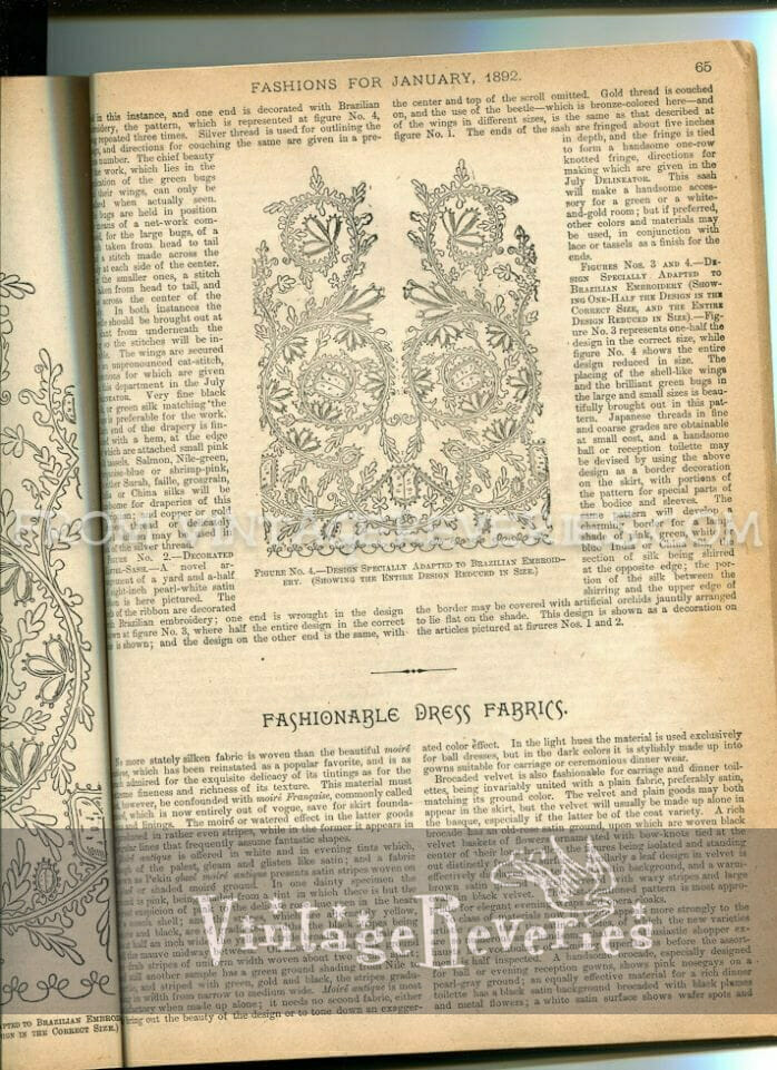 victorian embroidery pattern