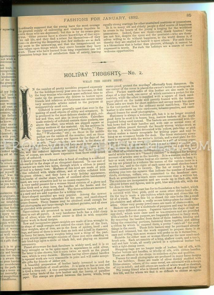1890s holiday writings