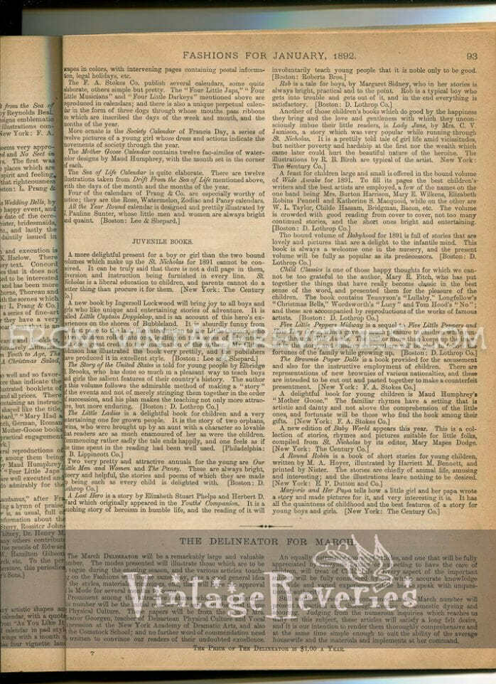 Victorian book review of juvenile books