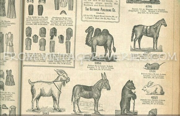Illustrated patterns for Victorian Dolls and Toys