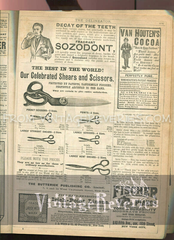Victorian Ads for Burpee's Seeds, skin bleach creams, typewriters, pianos, and more